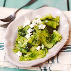 Verse lasagne met spinazie, pijnboompitten en feta of geitenkaas