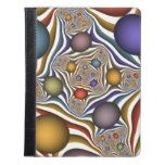 Flying Up Colorful Modern Abstract Fractal Art iPad Case