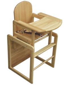 East Coast 3-in-1 Combination Wooden High Chair - Natural Finish - Boots