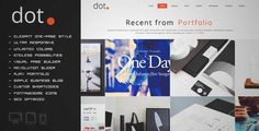 DOT - Creative One Page Multipu... Wordpress Theme | DOWNLOAD & REVIEW