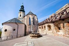 The dominant of the oldest Slovak town Nitra is the Castle of Nitra. It was built in the century on the site of a bulky Slav fort, the seat of the Nitra Princedom and Great Moravian rulers. Today it is the seat of the Bishopric of Nitra. 11th Century, Old Town, Wonderful Places, Places To Go, Mansions, Landscape, Country, Architecture, House Styles