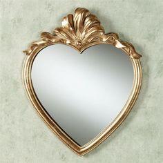 Karessa Heart Wall Mirror Antique Gold