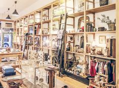 Full of beautiful jewelry, vintage clothing, unique housewares, and a selection of kid's clothes. http://www.moonandarrow.com