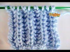Brioche Stitch Scarf en 2 agujas o palitos Knitting Stiches, Knitting Videos, Crochet Videos, Knitting For Beginners, Knitting Patterns Free, Knit Patterns, Free Knitting, Knitting Projects, Crochet Stitches
