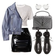 """Untitled #4806"" by lilaclynn ❤ liked on Polyvore featuring T By Alexander Wang, Acne Studios, Yves Saint Laurent, Balenciaga and Victoria Beckham"