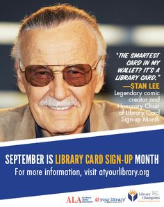 Free promotional tools for celebrating Library Card Sign Up Month from ALA