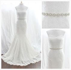 CAD$85.00 - This Beautiful bridal belt features a pretty yet still clean twist pattern of hand-sewn silver beading and high-quality czech rhinestones -- a perfect accent for your amazing gown.   		 		 	 Features: The embellished piece measures 20 inches by 1 inches and is finished with 1 inch wide double sided satin ribbon in an white/ off white  ivory color. Karmabridal.com