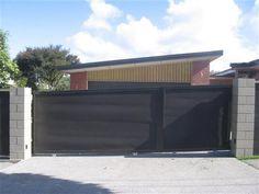 corrugated metal sliding gate
