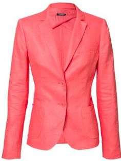 Caramelo Two button jacket Salmon - House of Fraser