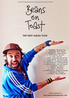 Beans on Toast Announces The Next Album Tour 2014