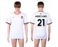 Valencia #21 Andre Gomes Home Soccer Club Jersey
