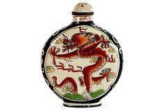 Qianlong Cloisonne Dragon Snuff Bottle | One Kings Lane