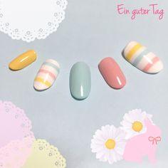 Ideas For Nails Spring Design Stripes Spring Nail Colors, Spring Nails, Love Nails, Fun Nails, Pink Nail Designs, Nails Design, Japanese Nail Art, Pretty Nail Art, Seasonal Nails