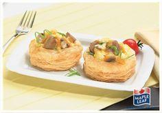 Mushroom and Sausage Breakfast Patty Shells Vol Au Vent, Patty Shells Recipe, Sausage Breakfast, Breakfast Recipes, Breakfast Ideas, Protein Filled Foods, Flake Recipes, Menu, Savory Snacks