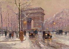 Eduard Leon Cortes Place de l'Etoile, Arc de Triomphe