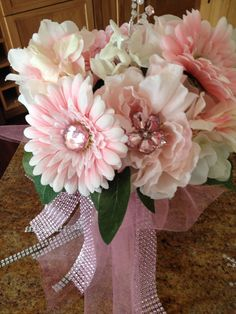 Pink prom bouquet