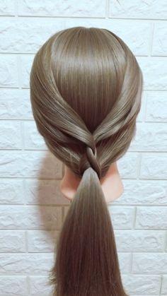 to make big Braids Hairstyle Tutorial 843 Diy Wedding Hair, Wedding Guest Hairstyles, Ribbon Wedding, Wedding Makeup, Braided Hairstyles Tutorials, Diy Hairstyles, Ponytail Hairstyles, Hairstyle Ideas, Waitress Hairstyles