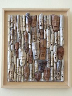 driftwood faces - very cool!