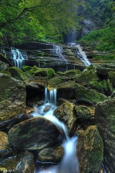Waterfall in western North Carolina - this is spectacular - I want to find this place - shot by Douglas McPherson...
