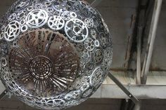 Ballroom Luminoso: Ugly freeway underpass beautified with recycled bike chandeliers : TreeHugger
