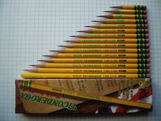 Ticonderoga Pencils, via Things Organized Neatly Dixon Ticonderoga, Things Organized Neatly, Wooden Pencils, Best Pencil, Usa Gold, Oddly Satisfying, Visual Communication, Page Layout, Ocd