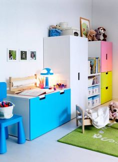 rangement bleu stuva chambre enfant