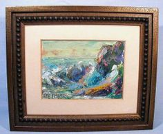 Orr Fisher Oil Painting Rocky Ocean Storm A California Coastal Scene | eBay
