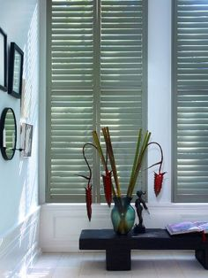 Shutters by Zonnelux - Window treatments - Living room - Studio Piet Boon Ibiza Style Interior, Ibiza Fashion, Curtains With Blinds, House Rooms, Windows And Doors, Shutters, Home And Living, Room Inspiration, New Homes