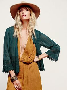 Free People FP ONE Soft Woven Kimono Jacket at Free People Clothing Boutique