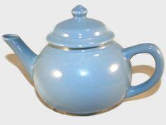 Vintage Robin's Egg Blue Ceramic Teapot ~ Perfect for a Tea Party ~ Vintage Blue Color ~ by ArtsyVintageBoutique