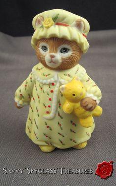 Шмид Kitty Огурец антропоморфный Kitty Cat Ginger в Nightgown | eBay