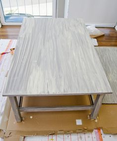 """IKEA Hackers: DIY painted """"driftwood"""" table"""