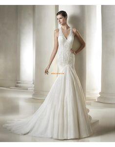 Ősz Csipke Cipzár Menyasszonyi ruhák 2015