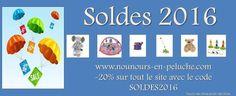 C'est les soldes chez nounous en peluche -20% sur tout le site avec le code SOLDES2016  #promo #soldes