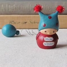 fimo! This adorable little guy looks like a little creature that my favorite @Tania Teigen would imagine up <3