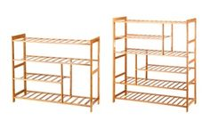 Groupon - Ollieroo Natural Bamboo Shoe Rack Shoe Shelf Storage Organizer 4 Tier. Groupon deal price: $26.99