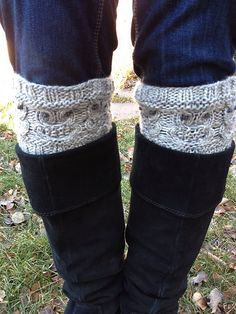 """*PLEASE NOTE: This is a KNITTING PATTERN to knit your own boot cuffs, NOT the actual finished knit product. Refunds cannot be issued for """"mistake"""" purchases, as the pattern is automatically downloaded at time of purchase.*"""