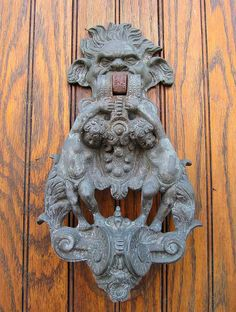 Door in Dublin | Flickr... knocker 1
