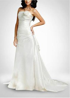 LACE BRIDESMAID PARTY BALL EVENING GOWN IVORY WHITE FORMAL PROM BEAUTIFUL TAFFETA A-LINE SLEEVELESS WEDDING DRESS
