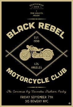 Black Rebel Motorcycle Club by Scarlet Rowe