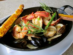 Sneak peek at some of our new menu items- coming soon! Steamed Shellfish- clams, mussels, shrimp, lobster, saffron broth