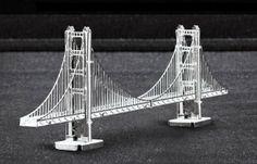 Readily Available Metal Marvels San Francisco Golden Gate Bridge Laser Cut Models Earth 3d, Metal Earth, Metal Model Kits, Metal Models, Bridge Model, Best Educational Toys, Unique Toys, Steel Sheet, 3d Laser