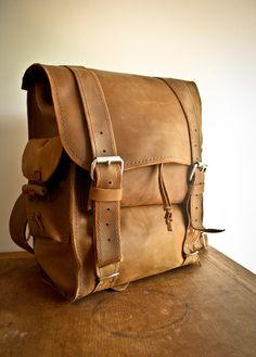 Nomad Backpack by http://mlleather.bigcartel.com/