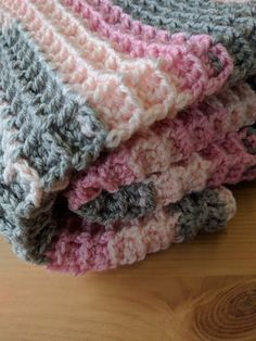 http://www.woolfull.com/blog/waffle-stitch-tutorial-and-free-baby-blanket-pattern