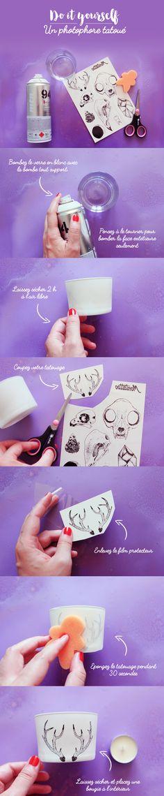 DIY : Un photophore tatoué ! – Poulette Magique