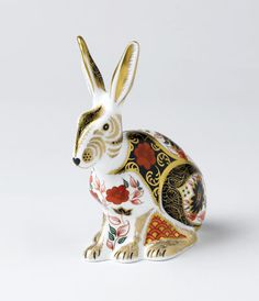 Royal Crown Derby ~ Old Imari Hare. Royal Crown Derby, Fine Bone China, Made in England.