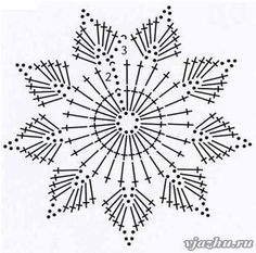 Wonderful DIY Crochet Snowflakes With Pattern - Her Crochet Maravillosos copos de nieve de ganchillo DIY con patrón - Su Crochet deko Crochet Snowflake Pattern, Crochet Stars, Crochet Snowflakes, Crochet Flower Patterns, Thread Crochet, Diy Crochet, Crochet Doilies, Crochet Flowers, Crochet Christmas Decorations