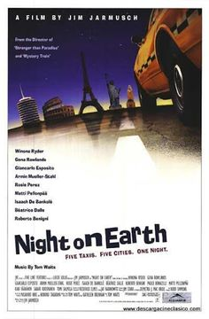 Night on Earth , starring Winona Ryder, Gena Rowlands, Lisanne Falk, Alan Randolph Scott. An anthology of 5 different cab drivers in 5 American and European cities and their remarkable fares on the same eventful night. Winona Ryder, Matthew Lawrence, Greg Kinnear, Gena Rowlands, Night Film, Richard Chamberlain, Christian Slater, Bette Midler, Vincent Price