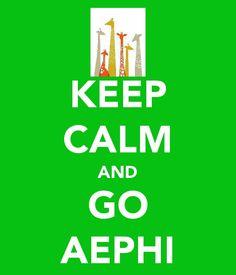 keep calm and go aephi