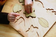 Wooden Leaf Puzzle by justhatched on Etsy